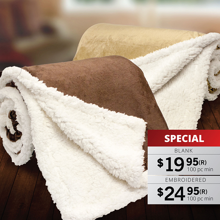 BK622 STARWOOD - MICRO MINK SHERPA THROW BLANKET