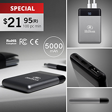 PWB50 BALTIMORE - 5000 mAh EXECUTIVE POWERBANK